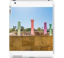 Colonnade In Beit She'an Israel iPad Case/Skin