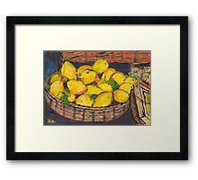 Italian Lemons Framed Print