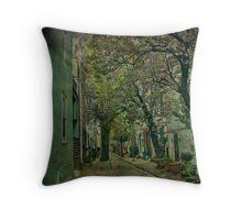 Through the Alley - Philadelphia Throw Pillow