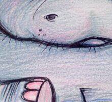 Meh Hippo Sticker
