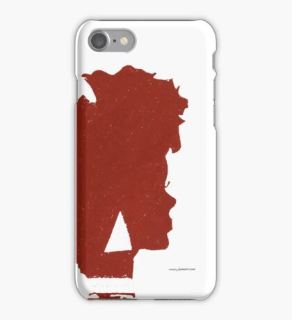 Afro Silhouette Case - RED iPhone Case/Skin