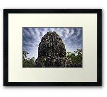 Jungle Faces, Cambodia Framed Print