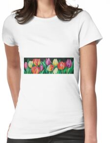 Spring Tulips Womens Fitted T-Shirt