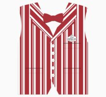 Dapper Dans Vest - Red One Piece - Long Sleeve
