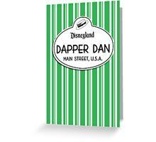 Dapper Dans Nametag - Green Greeting Card