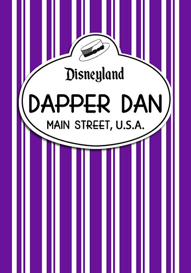 Dapper Dans Nametag - Purple by jdotcole