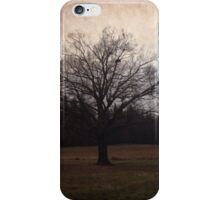 Beautiful old lonely tree iPhone Case/Skin