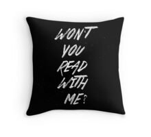 Won't you read with me? Throw Pillow