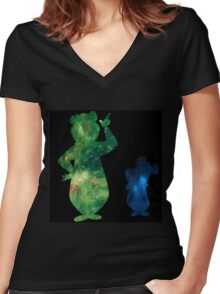 Inside Yogi and Boo Boo Women's Fitted V-Neck T-Shirt