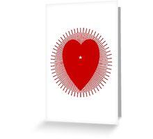 Red sunburst heart - variation on a 1914 design Greeting Card