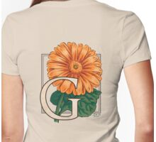 G is for Gerbera Womens Fitted T-Shirt