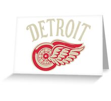 Red Wings sport detroit Greeting Card