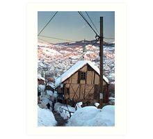 Alleys of Sarajevo in Winter Art Print