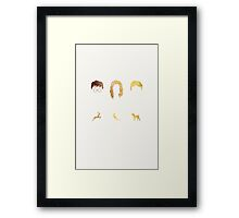 Why is it always you three? Framed Print