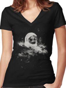 Intercatlactic Women's Fitted V-Neck T-Shirt