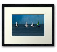 The Sailboats Framed Print