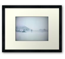Lost in the cold void of hopeless longing Framed Print