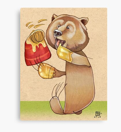 Honey Bear Canvas Print