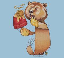 Honey Bear One Piece - Short Sleeve
