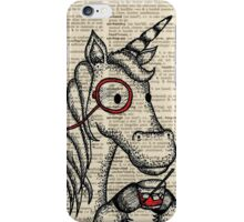 Unicorn with Monocle iPhone Case/Skin