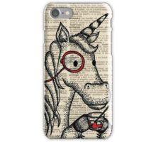 Unicorn with Monocle iPhone Case/Skin