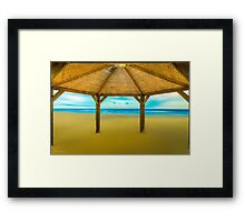 Shed On The Beach Framed Print