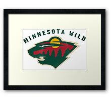 Minnesota Wild Hockey sport Framed Print