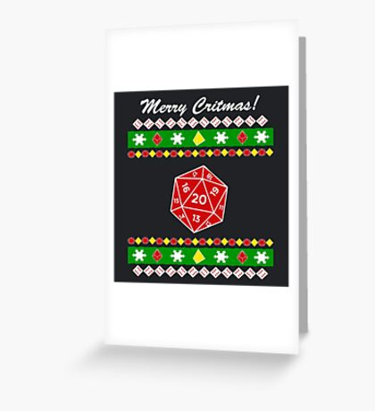Merry Critmas! Ugly Christmas Sweater Greeting Card