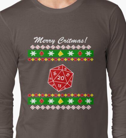 Merry Critmas! Ugly Christmas Sweater Long Sleeve T-Shirt