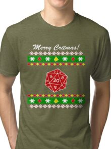 Merry Critmas! Ugly Christmas Sweater Tri-blend T-Shirt