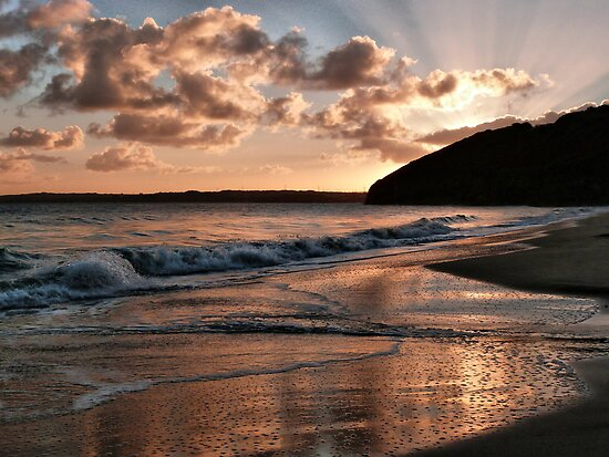 Sunrise over Carbis Bay by Lilian Marshall