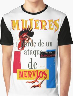 "Almodovar movies: ""Mujeres al borde..."" Graphic T-Shirt"