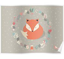 Christmas baby fox 01 Poster