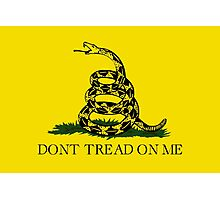Gadsden Flag Dont Tread On Me Photographic Print