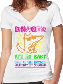 Dingoes Ate My Baby | Buffy The Vampire Slayer Band T-shirt [Neon] Women's Fitted V-Neck T-Shirt