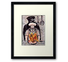 Frying Phoenix ink and colored pencil drawing Framed Print