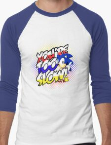 Sonic - Tee (different design on graphic tee) Men's Baseball ¾ T-Shirt