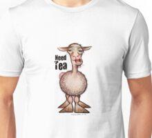 Llama Needs Tea Unisex T-Shirt