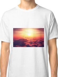 Sunrise above clouds Classic T-Shirt