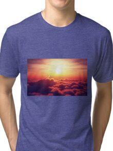 Sunrise above clouds Tri-blend T-Shirt