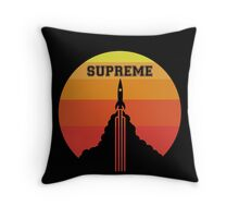 Supreme Rocket Throw Pillow