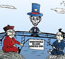 Caricature pour investir en Asie avec USD by Binary-Options