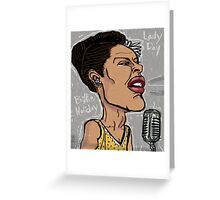 Billie Holiday 'Lady Day' by Shan Stumpf Greeting Card