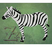 Sleepy Zzzebra Photographic Print