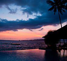 Fiery Bali Sunset by Michael Brewer