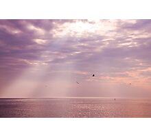Sun rays on Long Island Sound Photographic Print
