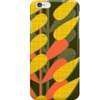 yellow leaves on dark iPhone Case/Skin
