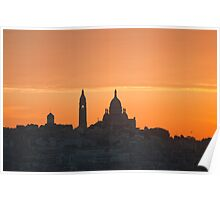 Dawn over Sacre Coeur Poster