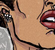 Billie Holiday 'Lady Day' by Shan Stumpf Sticker