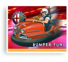 ALFA Giulia Bumper Car Canvas Print